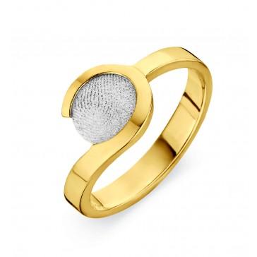 ring, fingerprint, fingerabdrück, vingeradruk, allure, gold, goud, white, yellow