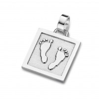 pendant, anhänger, hanger, footprint, Fussabdrück, voetafdruk, unique, gold, goud, white,