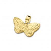 pendant, anhø¤nger, hanger, fingerprint, fingerabdrø¼ck, vingeradruk, butterfly, gold, goud, yellow,