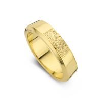 Damering Warm guld bredde 5,5mm