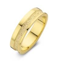 Herrering Caring guld bredde 6,5mm