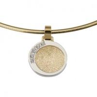 Dazzling zirconia guld/hvidguld