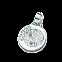pendant, anhänger, hanger, fingerprint, fingerabdrück, vingeradruk, dazzling, silver, silber, zilver,