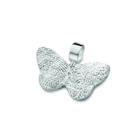 pendant, anhø¤nger, hanger, fingerprint, fingerabdrø¼ck, vingeradruk, butterfly, vlinder, sølv , silber, zilver,