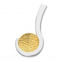 pendant, anhø¤nger, hanger, fingerprint, fingerabdrø¼ck, vingeradruk, loving, gold, goud, yellow, white,