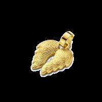 pendant, anhänger, hanger, fingerprint, fingerabdrück, vingerafdruk, angel, 2, gold, goud, yellow,