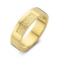 Herrering Tender guld bredde 6,5mm