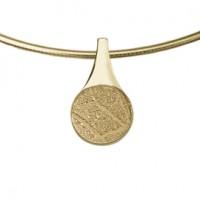 pendant, anhänger, hanger, fingerprint, fingerabdrück, vingerafdruk, tear, gold, goud, yellow,