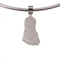 jewel, Schmuck, sieraad, pendant, anhänger, hanger, footprint, Fussabdrück, voetafdruk, step, silver, silber, zilver,
