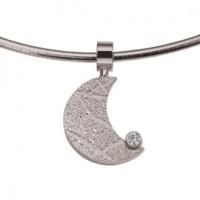 Moon zirconia sølv