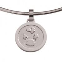 jewel, Schmuck, sieraad, pendant, anhänger, hanger, pawprint pet, pootafdruk huisdier, adore, gold, goud, white, wit, weiss,