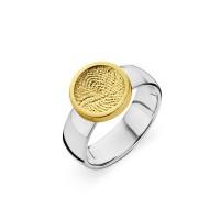 ring, fingerprint, fingerabdrück, vingerafdruk, bliss 1, gold, goud, yellow, white,