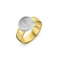 ring, fingerprint, fingerabdrück, vingerafdruk, bliss 1, gold, goud, white, yellow,