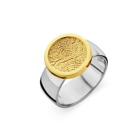 ring, fingerprint, fingerabdrück, vingeradruk, bliss 2, gold, goud, yellow, white,