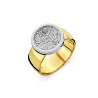 ring, fingerprint, fingerabdrück, vingeradruk, bliss 2, gold, goud, white, yellow,