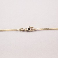 chain, ketting, kette, gourmet, 1.3mm, gold, yellow, goud, geel,