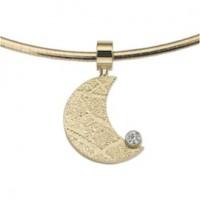 Moon zirconia guld