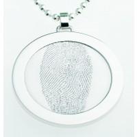 Coin L sølv  35 mm på øsken