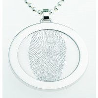 Coin M sølv  31 mm på øsken